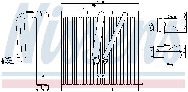 Evaporateur NISSENS 92321 (X1)