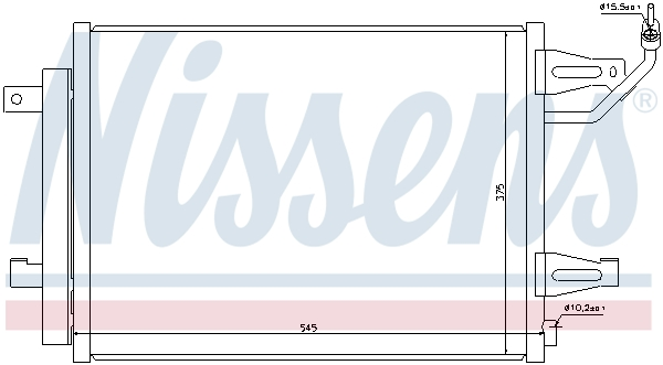 Condenseur / Radiateur de climatisation NISSENS 940067 (X1)