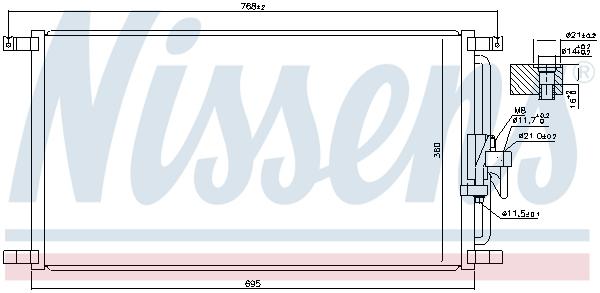 Condenseur / Radiateur de climatisation NISSENS 940104 (X1)