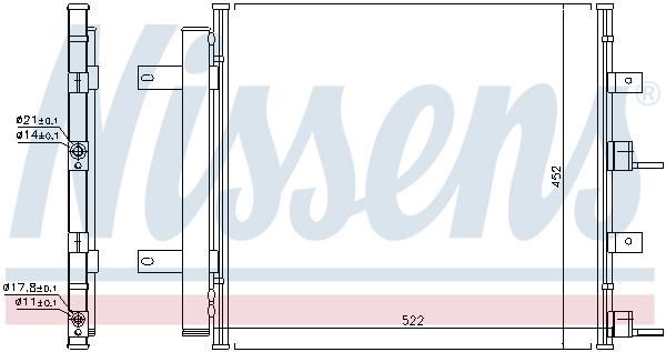 Condenseur / Radiateur de climatisation NISSENS 940117 (X1)