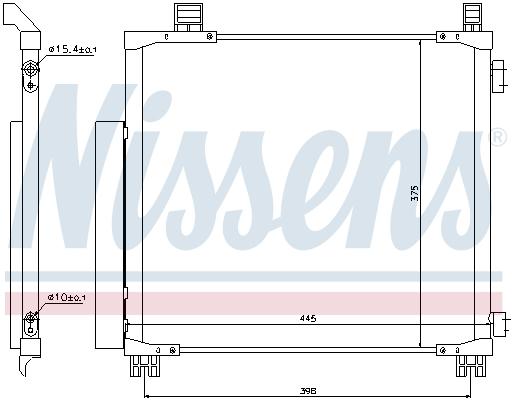 Condenseur / Radiateur de climatisation NISSENS 940136 (X1)