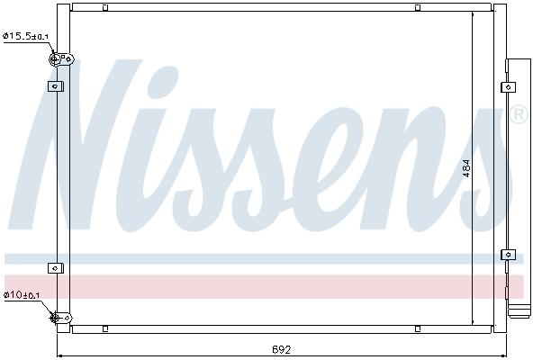 Condenseur / Radiateur de climatisation NISSENS 940168 (X1)