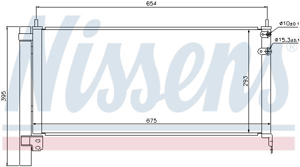 Condenseur / Radiateur de climatisation NISSENS 940175 (X1)