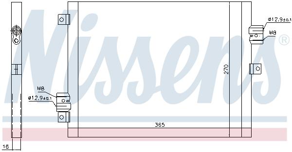 Condenseur / Radiateur de climatisation NISSENS 940190 (X1)