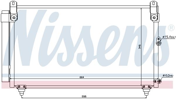 Condenseur / Radiateur de climatisation NISSENS 940191 (X1)