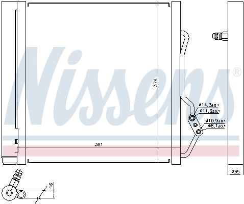Condenseur / Radiateur de climatisation NISSENS 940192 (X1)