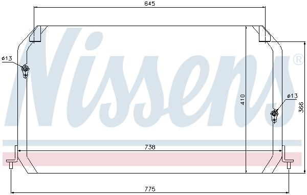 Condenseur / Radiateur de climatisation NISSENS 94026 (X1)