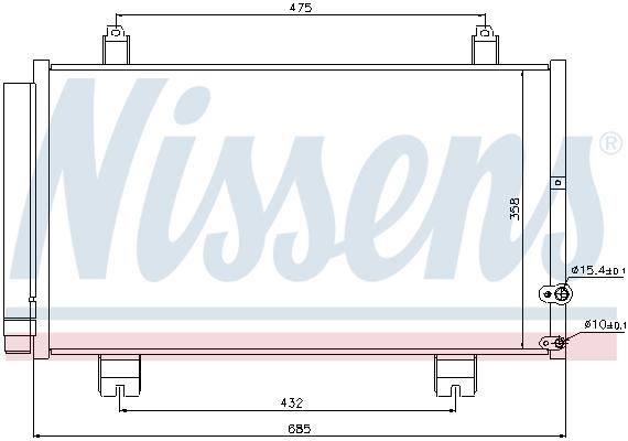 Condenseur / Radiateur de climatisation NISSENS 940261 (X1)