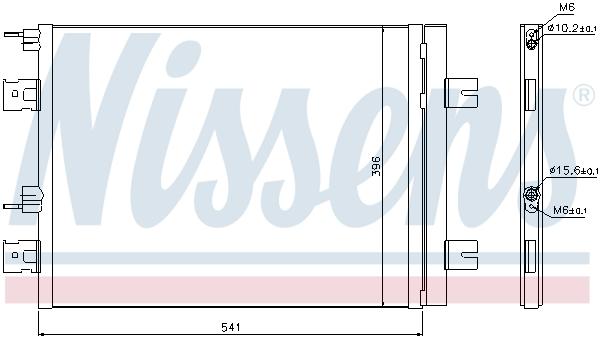 Condenseur / Radiateur de climatisation NISSENS 940262 (X1)