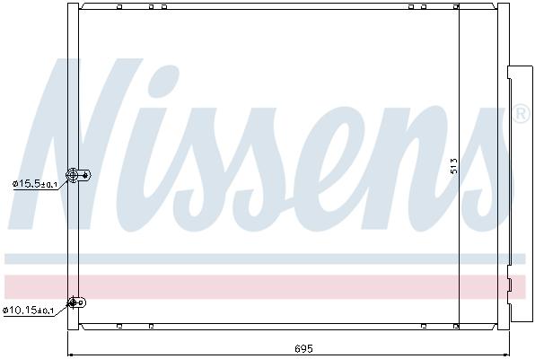 Condenseur / Radiateur de climatisation NISSENS 940297 (X1)