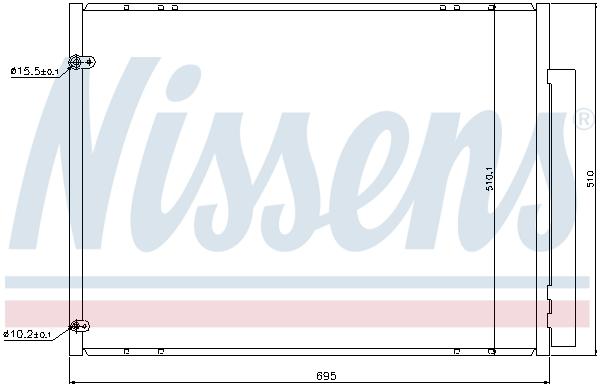 Condenseur / Radiateur de climatisation NISSENS 940298 (X1)