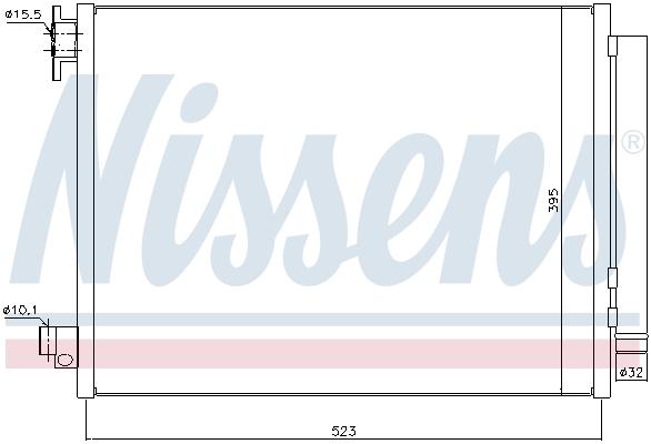 Condenseur / Radiateur de climatisation NISSENS 940321 (X1)