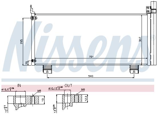 Condenseur / Radiateur de climatisation NISSENS 940344 (X1)