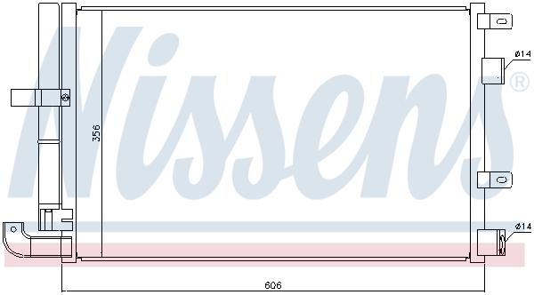 Condenseur / Radiateur de climatisation NISSENS 940346 (X1)