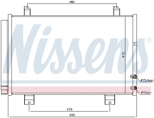 Condenseur / Radiateur de climatisation NISSENS 940365 (X1)