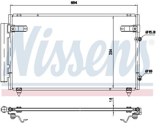 Condenseur / Radiateur de climatisation NISSENS 940368 (X1)