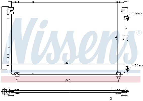Condenseur / Radiateur de climatisation NISSENS 940433 (X1)