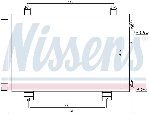Condenseur / Radiateur de climatisation NISSENS 940434 (X1)