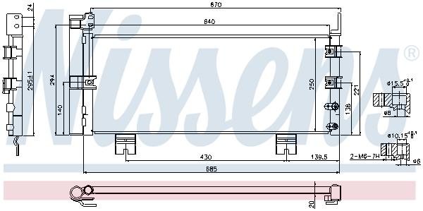 Condenseur / Radiateur de climatisation NISSENS 940450 (X1)