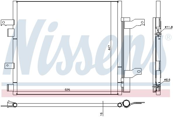 Condenseur / Radiateur de climatisation NISSENS 940536 (X1)