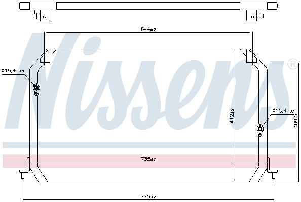 Condenseur / Radiateur de climatisation NISSENS 94056 (X1)