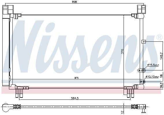 Condenseur / Radiateur de climatisation NISSENS 940572 (X1)