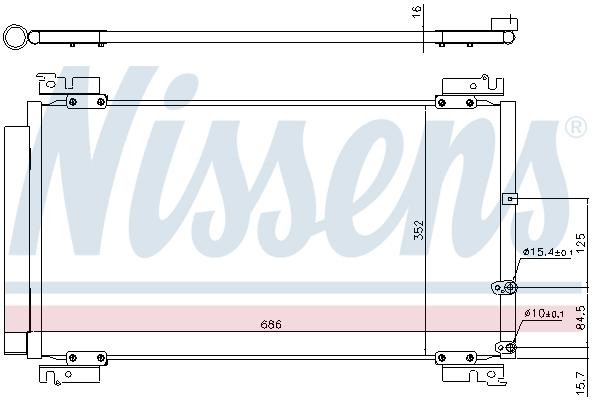 Condenseur / Radiateur de climatisation NISSENS 940574 (X1)
