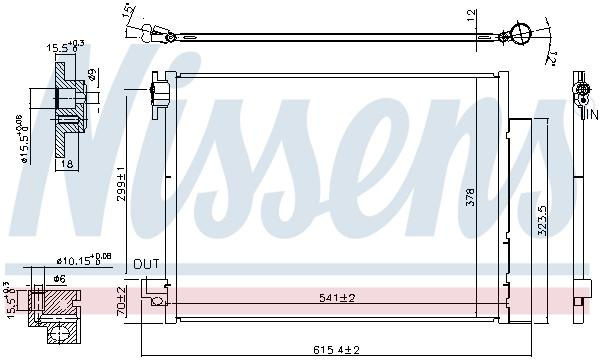 Condenseur / Radiateur de climatisation NISSENS 940593 (X1)