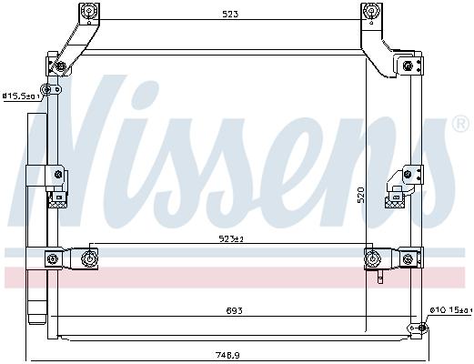 Condenseur / Radiateur de climatisation NISSENS 940618 (X1)