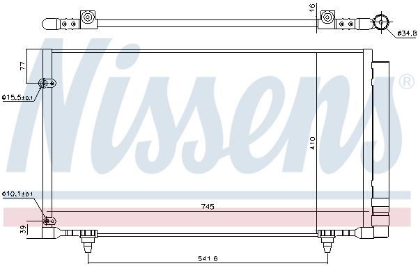 Condenseur / Radiateur de climatisation NISSENS 940671 (X1)