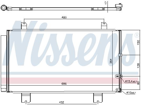 Condenseur / Radiateur de climatisation NISSENS 940711 (X1)