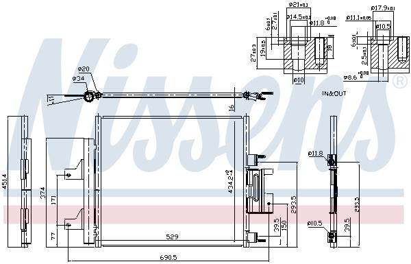 Condenseur / Radiateur de climatisation NISSENS 940772 (X1)