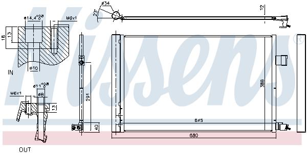 Condenseur / Radiateur de climatisation NISSENS 940808 (X1)
