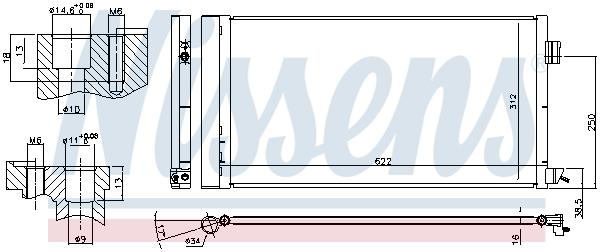 Condenseur / Radiateur de climatisation NISSENS 940809 (X1)