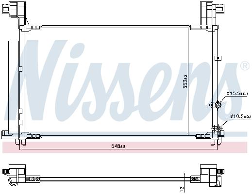 Condenseur / Radiateur de climatisation NISSENS 941149 (X1)