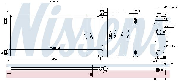 Condenseur / Radiateur de climatisation NISSENS 941150 (X1)