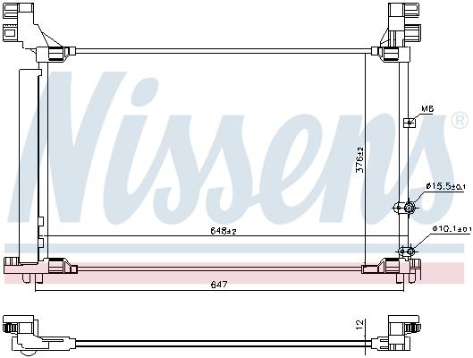 Condenseur / Radiateur de climatisation NISSENS 941165 (X1)