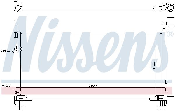 Condenseur / Radiateur de climatisation NISSENS 941166 (X1)