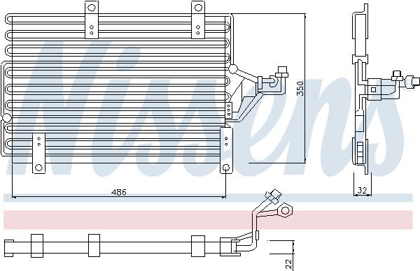 Condenseur / Radiateur de climatisation NISSENS 94215 (X1)