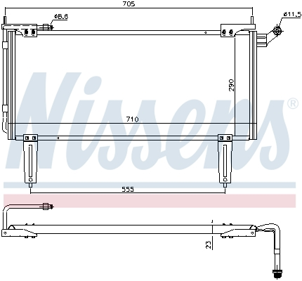 Condenseur / Radiateur de climatisation NISSENS 94351 (X1)
