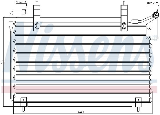 Condenseur / Radiateur de climatisation NISSENS 94399 (X1)