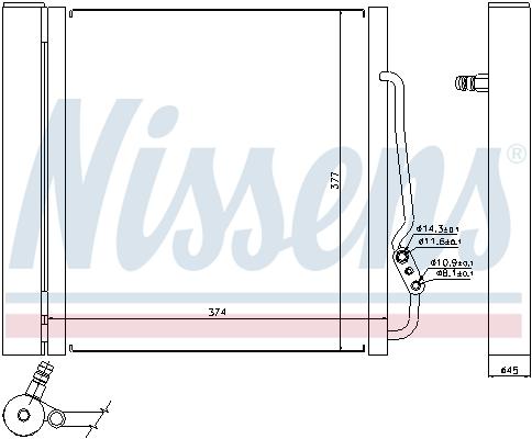 Condenseur / Radiateur de climatisation NISSENS 94543 (X1)