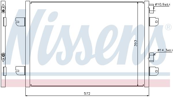 Condenseur / Radiateur de climatisation NISSENS 94673 (X1)