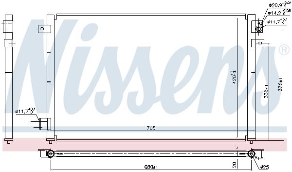 Condenseur / Radiateur de climatisation NISSENS 94717 (X1)
