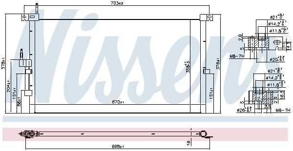 Condenseur / Radiateur de climatisation NISSENS 94718 (X1)
