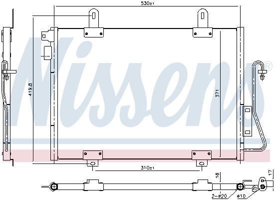 Condenseur / Radiateur de climatisation NISSENS 94726 (X1)