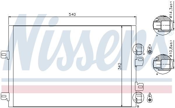 Condenseur / Radiateur de climatisation NISSENS 94745 (X1)