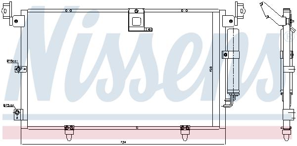 Condenseur / Radiateur de climatisation NISSENS 94789 (X1)