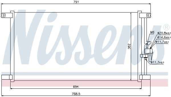 Condenseur / Radiateur de climatisation NISSENS 94798 (X1)
