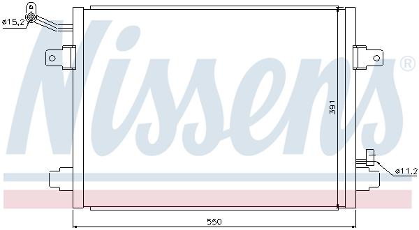 Condenseur / Radiateur de climatisation NISSENS 94835 (X1)